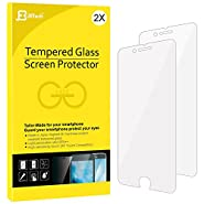 iPhone 7 Plus Screen Protector, iPhone 8 Plus Compatible, JETech 2-Pack Tempered Glass Screen Protector Film for Apple iPhone 8 Plus and iPhone 7 Plus 5.5-Inch