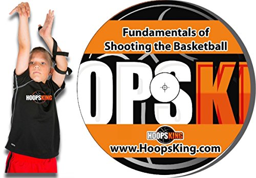 (HoopsKing Coach Chris' Easy Shot Builder Workout & Perfect Jump Shot Strap - Teach Your Child to Shoot The Basketball)