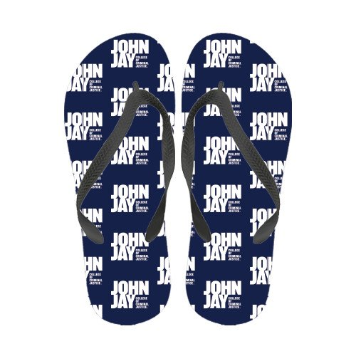 John Jay College Fyrfärg Flip Flops Officiella Logotypen