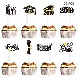 Amosfun 72PCS Graduation Cupcake Toppers 2019 Graduation Party...