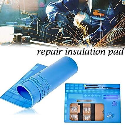 Heat-resistant Repair Maintenance Pad Desk Insulation Silicone Station Mat pk