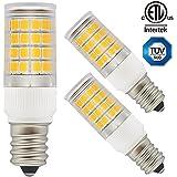 3-Pack ETL-listed 110V 3.5W LED E12 Light Bulb, 40W Equivalent Candelabra Base Bulb, 350lm 2700K Warm White 360° Omni-directional E12 Base Bulb for Ceiling Fan, Chandelier, Indoor Decorative Lighting
