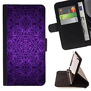 - Indian Dream Catcher Pattern Purple - Estilo PU billetera de cuero del soporte del tir???¡¯????n [solapa de cierre] Cubierta- For LG Nexus 5 D820 D821 £¨ Devil Case £©