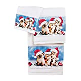 Best Collections Etc Bath Towels - Collections Etc Adorable Christmas Cats Towel Set of Review