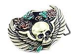 Waypower Adult Vintage Skull with Wings Roses