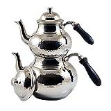 Grandbazaarshopping Copper Turkish Tea Maker, Express Shipping, Samovar, Artisan Handmade, Traditional Turkish Tea Maker, Tea Pot