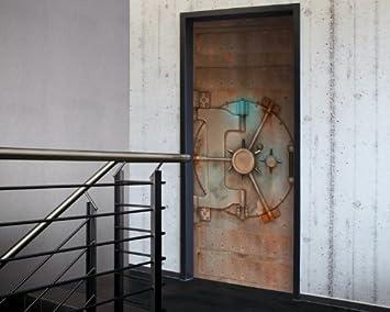 Porte XXL Papier Peint Pour Portes Tresor Coffrefort - Papier peint porte