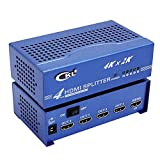 CKL 4 Port HDMI Splitter 1x4 Vedio Distributor 4Kx2K HD-9442 Blue