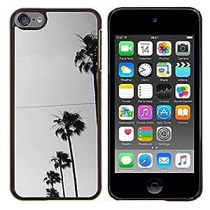 TECHCASE---Cubierta de la caja de protección para la piel dura ** Apple iPod Touch 6 6th Touch6 ** --Los árboles Fila Sky View Road la calle