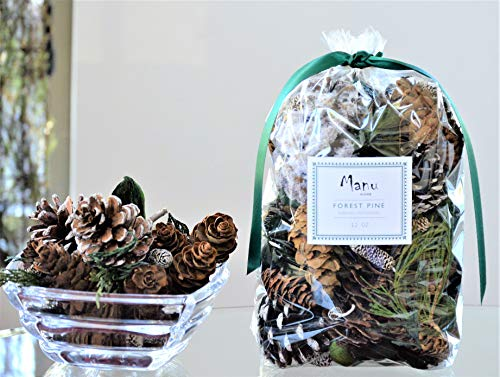 Manu Home Pine Potpourri ~A Compelling Powerful Clean Scent of Fresh Forest Pine Potpourri with The underpinnings of Glistening Evergreen and Cedar Wood ~12 oz Bag~ Made in The USA!