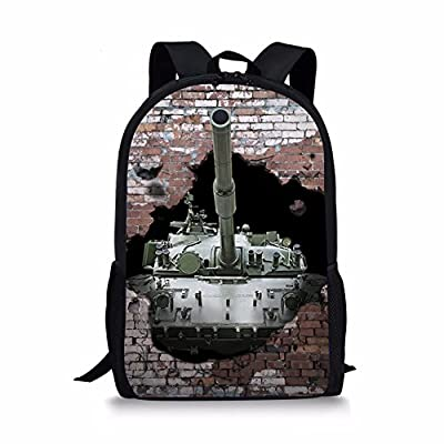 ThiKin Cool 3d Tank Personalized School Bag for Grades 3 - 5 Student Kids