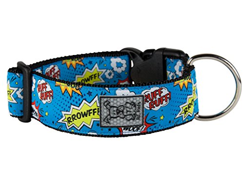 Image of RC Pet Products 1 1/2 Inch Wide Adjustable Dog Clip Collar, Medium, Comic Sounds