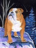 Caroline's Treasures SS8405CHF Starry Night English Bulldog Flag Canvas, Large, Multicolor For Sale