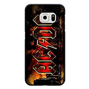 Samsung Galaxy S6 Edge Skin Case Famous Classical ACDC Brand Logo Back Case snap on Samsung Galaxy S6 Edge