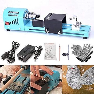 FOONEE DIY Portátil de Carpintería Mini Torno Taladro y HPPE 5 ...