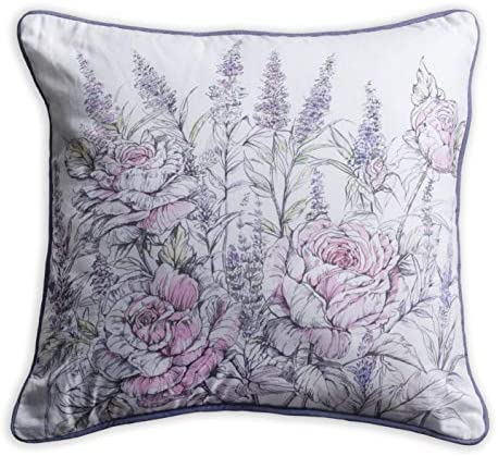 Amazon Com Maison D Hermine Rose Lavender Sage 100 Cotton Decorative Pillow Cover For Couch Sofa Cushion Covers Bedroom La Provence 18 Inch By 18 Inch Home Kitchen