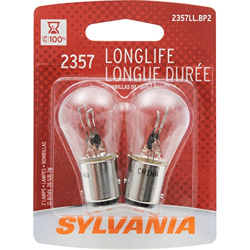 SYLVANIA 2357 Miniature Incandescent Long Life Bulb, (Contains 2 Bulbs) ()