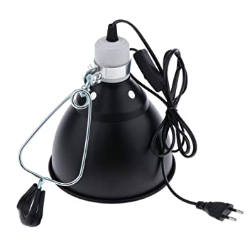 Terrarium Klemmlampe Reflektor Schutzgitter Clamp Lamp Keramikfassung Lampe E27