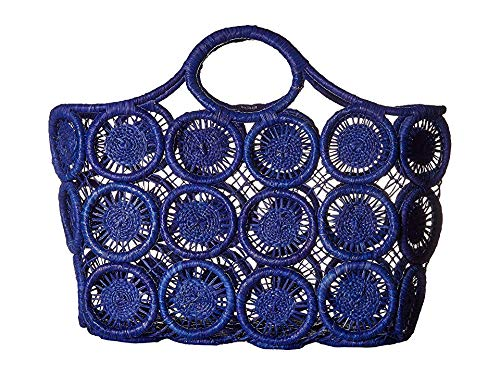 Hat Attack Women's Macrame Basket Tote Blue One Size