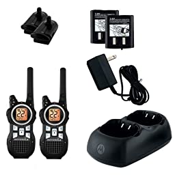 Motorola 2-Way Radios, Push-To-Talk, Hands-Free, 35 Mile Range, Black (MR350R)
