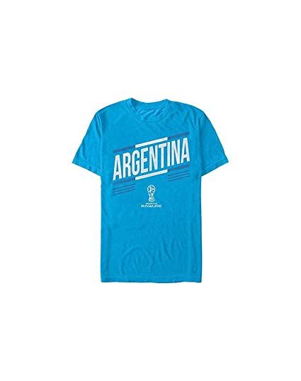 7c3684de359 Fifth Sun FIFA World Cup Russia 2018 Men s Argentina Stripes T-Shirt-Small  Turquoise