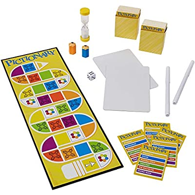 Pictionary Quick Drawing Board & Guessing Game for Family, Kids, Teens & Adults, with Dry Erase Boards, Special Markers & Clue Cards with a Unique Catch-All Category [ Exclusive]: Toys & Games