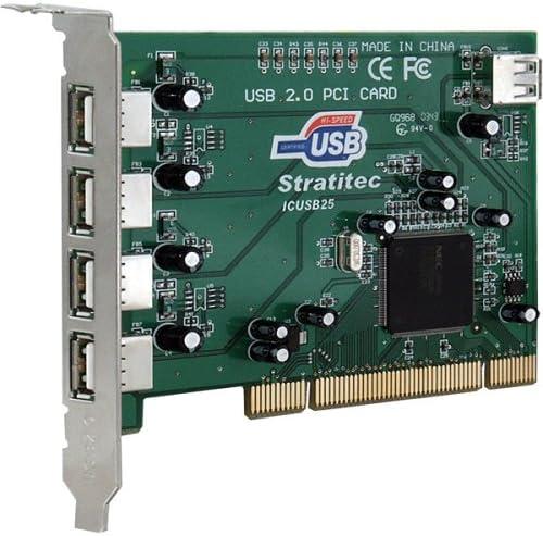 Stratitec ICUSB25 USB 2.0 5-Port Pci Upgrade Card