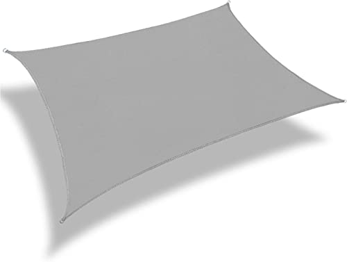 Patio Paradise 16' x 20' Light Grey Sun Shade Sail Rectangle Square Canopy