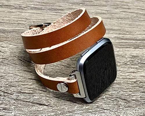 Amazon.com: Bronze Genuine Leather Bracelet For Fitbit