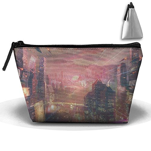 Travel Cosmetic Bags Futuristic City Small Makeup Bag Multifunction Pouch Cosmetic Handbag Toiletries Organizer Bag for Women Girl]()