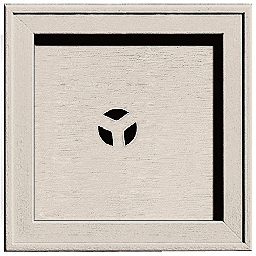 Builders Edge 130110004048 Recessed Square Mounting Block 048, Almond (Mounting Square Block)