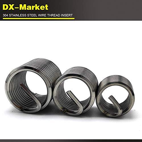 sus304 Thread Inserts Corrosion Resisting Steel antirust Engine Thread Repair Fastener 100pcs Ochoos m22.5D0.4P