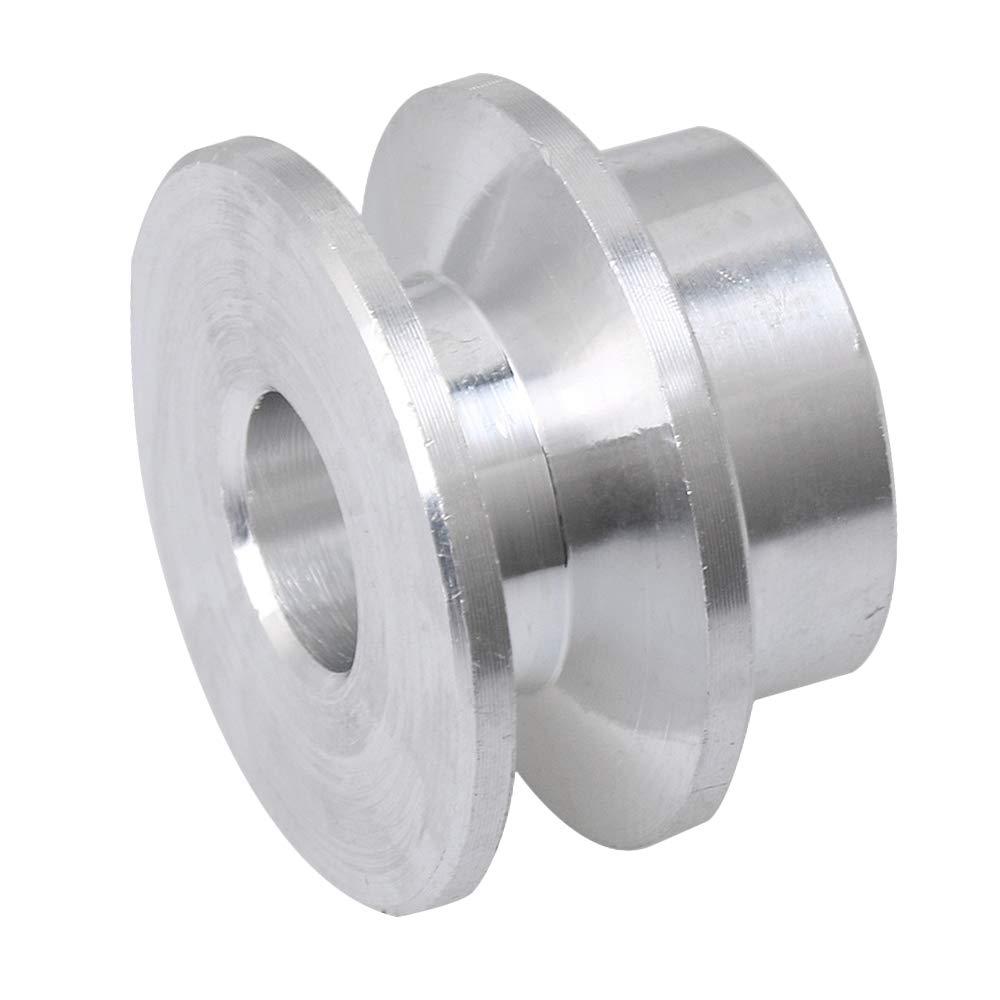 Homeswitch 22/mm de diam/ètre 8/mm Diam/ètre du trou en alliage daluminium seule /étape type V Poulie pour 3 5/mm PU rond Ceinture DIY accessoire de per/çage