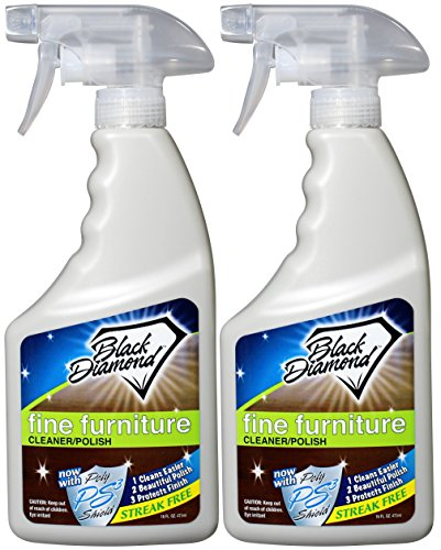 Fine Furniture Cleaner & Polish: Add a Beautiful Spray Shine to your Furniture and Wood Cabinets. By Black Diamond Stoneworks. (2, (Regency Cherry Cabinet)