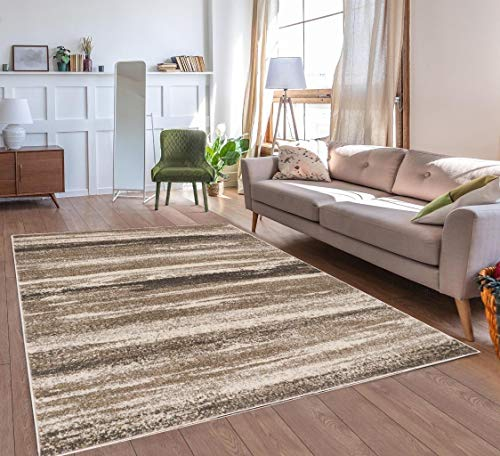 Luxe Weavers Lagos Collection 7501 Beige 8×10 Abstract Area Rug