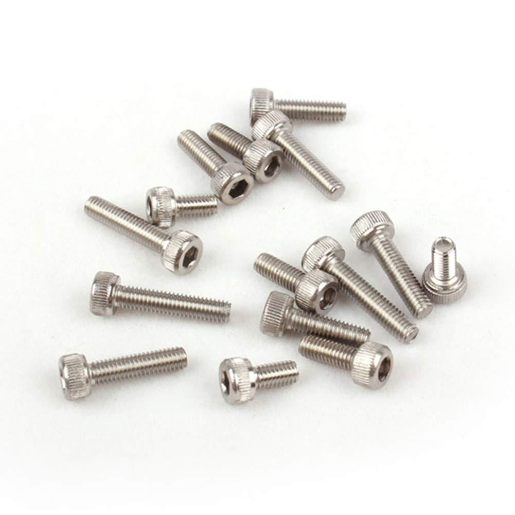 Yudesun Eisenwaren Sechskantschrauben N/ägel Schrauben Befestigungen Bolzen Zylinderkopfschraube mit Innensechskantschraube M6