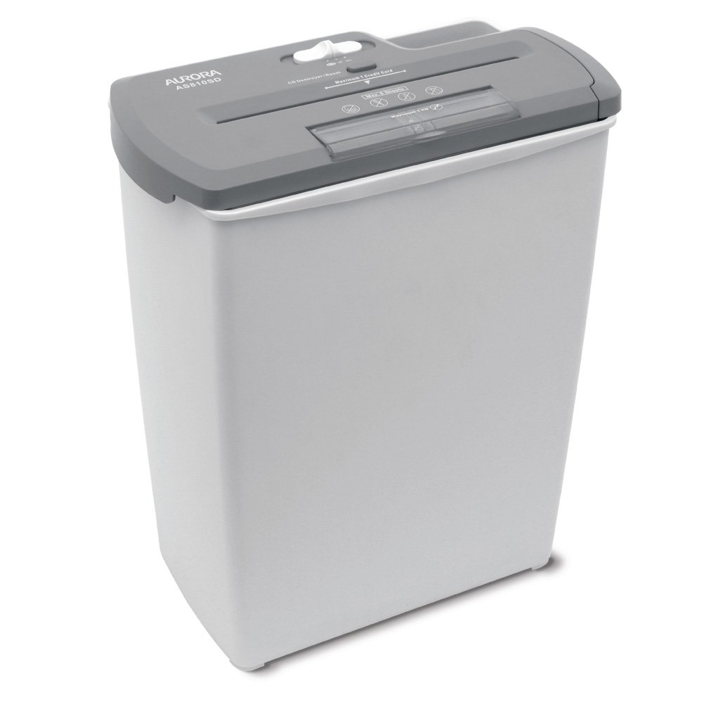 amazoncom aurora as810sd 8 sheet strip cut paper cd and credit card shredder basket office products - Best Paper Shredder For The Money