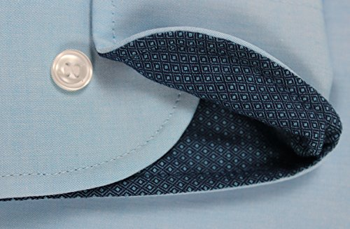 Marvelis Modern Fit Blau mit Patch in Kragen und Manschette