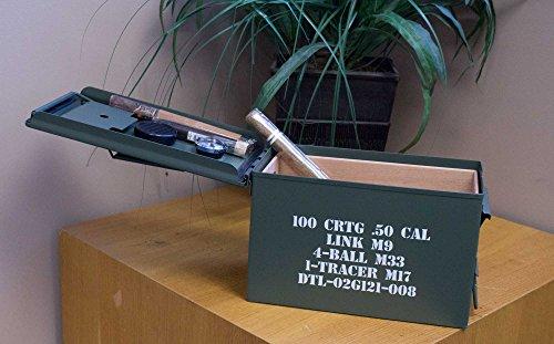 .50 Cal Ammo CAN Cigar HUMIDOR - 50 Count - Rugged - New