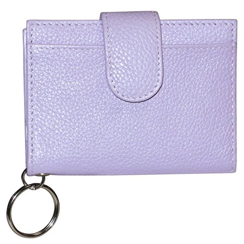 buxton-womens-leather-key-chain-id-card-case-wallet-lavender