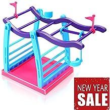 [Patrocinado] Interactive Baby–Soporte para overol Escalada Selva gimnasio Playset para Niños Manos Toy overol–para la diversión y decoración de mesa, Púrpura