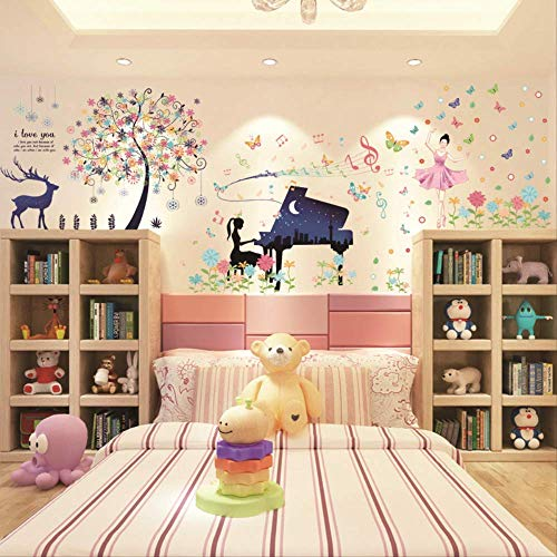 Art Wall Decals 3D Stereowall Stickers Wall Stickers Bedroom Son Room Wall Decorations Self-Adhesive Wallpaper
