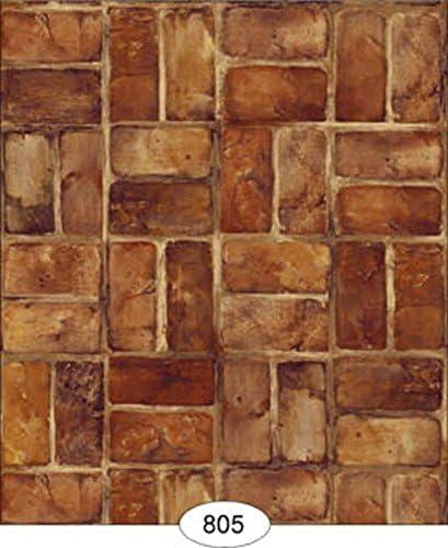 Dollhouse Wallpaper Flat Stone in Tan