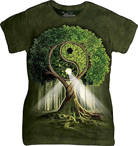 The Mountain Junior's Yin Yang Tree Graphic T-Shirt, Green, Medium