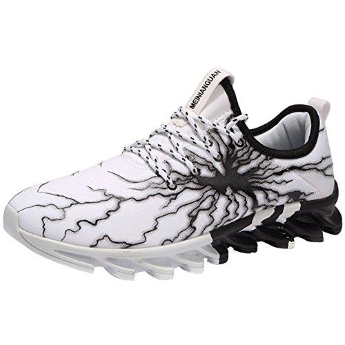 dbd560626ba4d Wealsex Entraînement Blanche Multisports Running Chaussures Sport Course 45  Compétition De 01 Homme Trail 39 Baskets gRrzxwOnYg