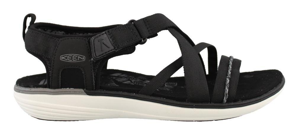 KEEN Women's, Maya Strap Sandals B01LWP8DLV 8 B(M) US|Black/Gargoyle