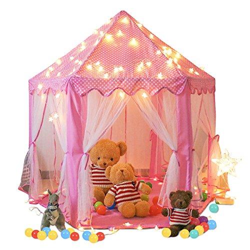 Springbuds Pink Princess Castle Kids Play Tent Large