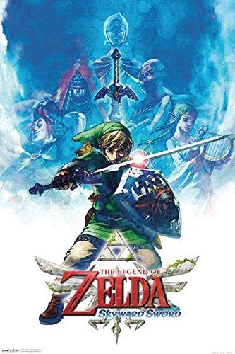 Zelda Skyward Sword Drawing Poster 12x18 Buy Online In