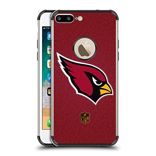 Official NFL Football Arizona Cardinals Logo Black Shockproof Fender Case for iPhone 7 Plus/iPhone 8 ()