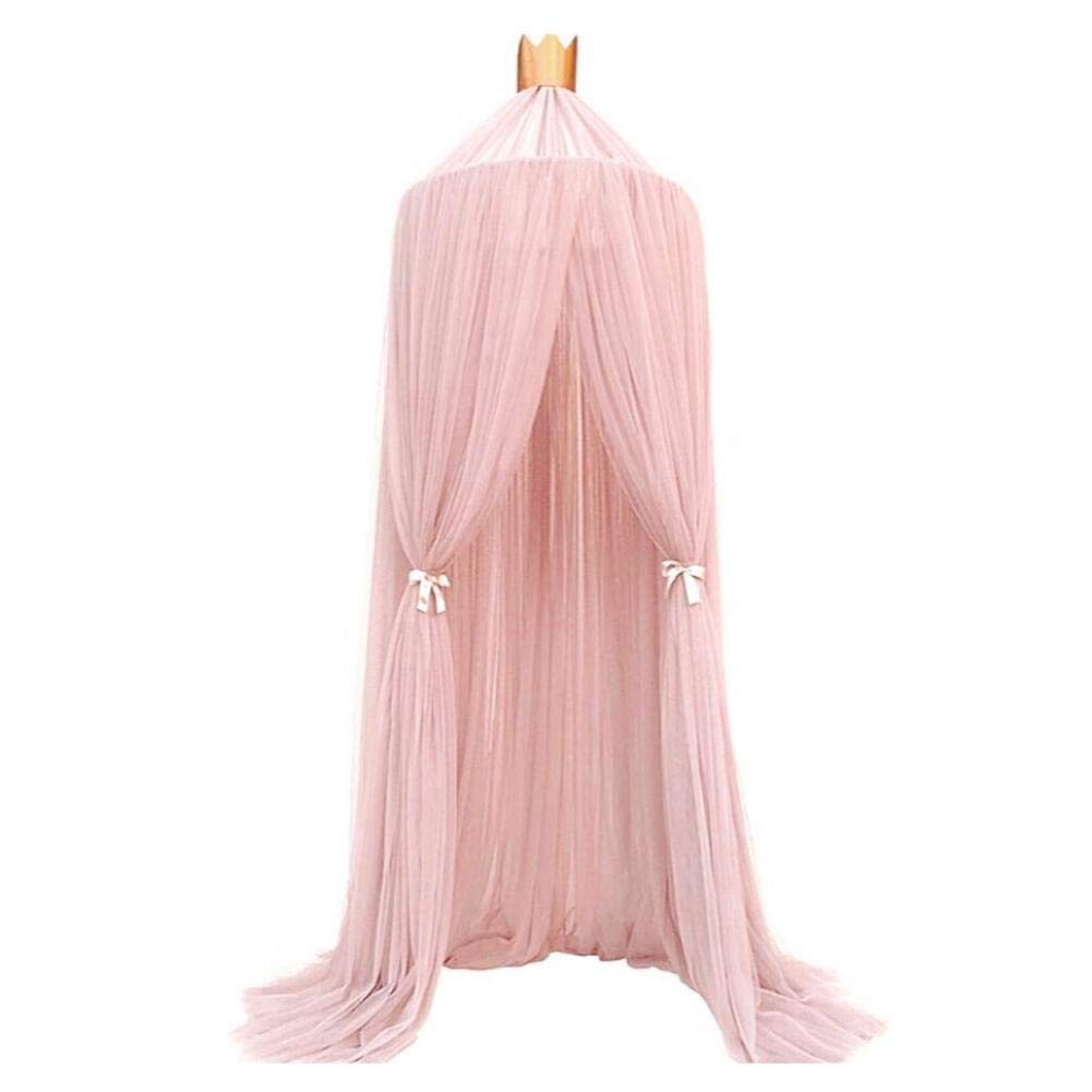 Mosquito Net Bedding Children Dome Fantasy Champion Netting Curtains Play Tent Bed Canopy with Round Lace Baby Boys Girls Games House for Kids' Playing Reading Keeps Away Insects & Flies by anne210